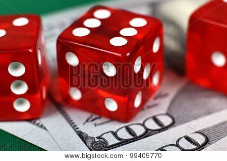 Three Casino Dices
