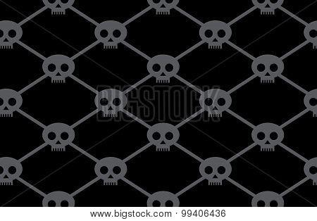 Black Funny Skulls Pattern