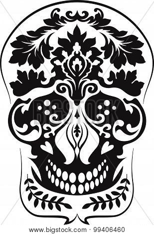 Black Leafs Skull