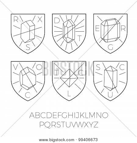 Heraldry Icons With Precious Stones Part 1