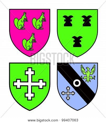 Authentic Medieval Heraldry Shields