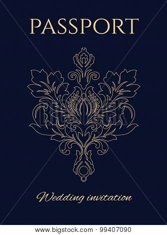 Wedding Invitation Passport