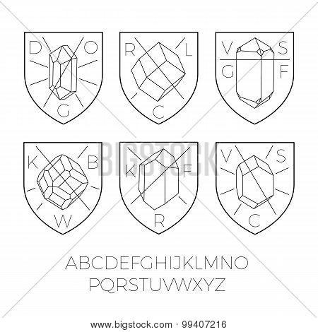 Heraldry Icons With Precious Stones Part 2