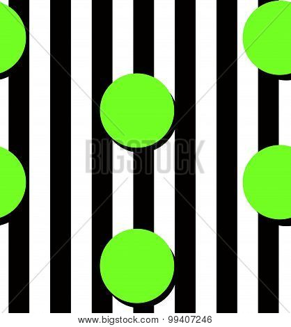 Modern Stripes And Circles Pattern