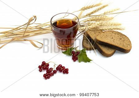 Beautiful Still Life On Cereals And Drinks