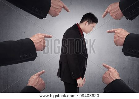 Concept Of Accused Businessman
