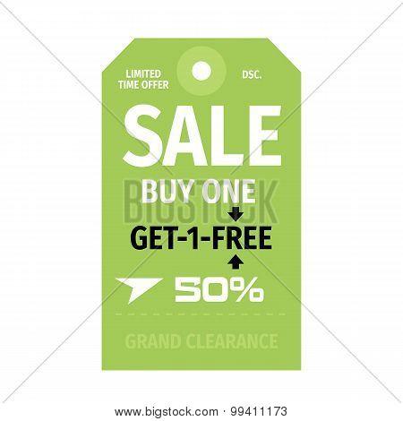 Stylized Sale Shopping Labels Set