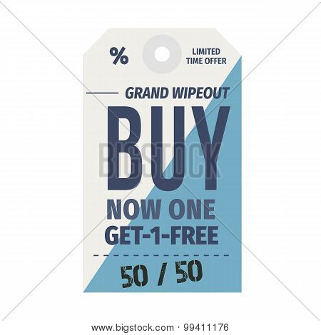 Stylized Sale Shopping Labels Set