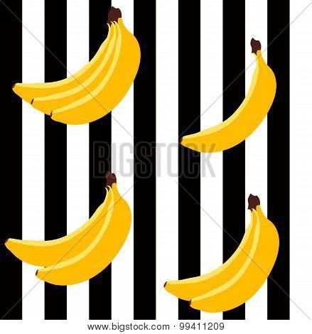 Banana Bright Geometric Pattern