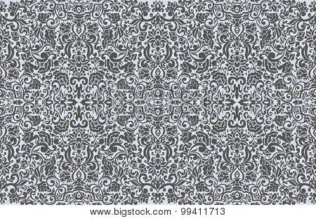 Seamless damask pattern for wallpaper decoration design.