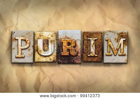 Purim Concept Rusted Metal Type