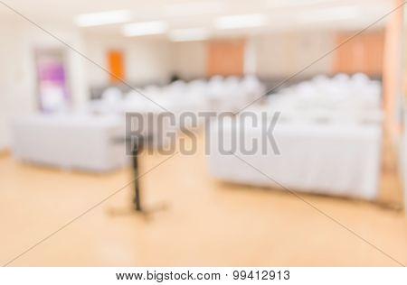 Blur Image Of Empty Seminar Room