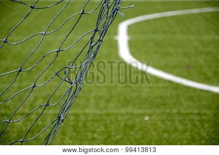 net goal in soccer field
