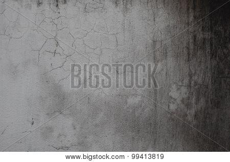 dark crack and grunge gray concrete texture wall background