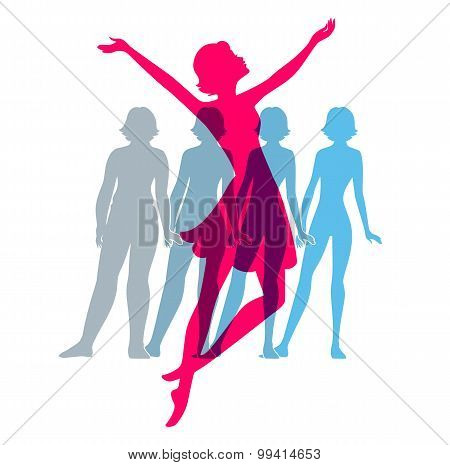 Be Fit, Woman Silhouette Images