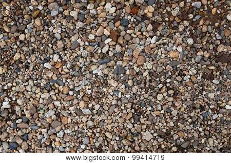 Crushed granite and pebble gravel texture background