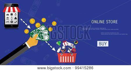 Vector online shopping concept