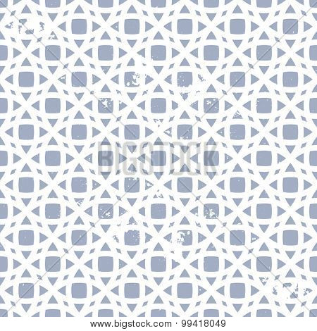 detailed illustration of a seamless geometric pattern with grunge elements, eps10 vector