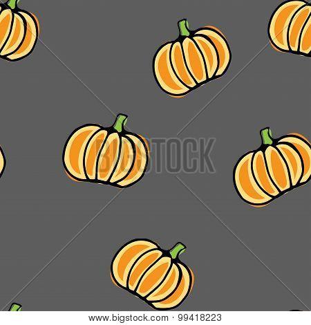 Seamless Vector Pumpkin Pattern