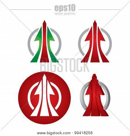 Communication Concept, Arrows Icon