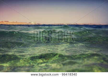 The wave on the beach