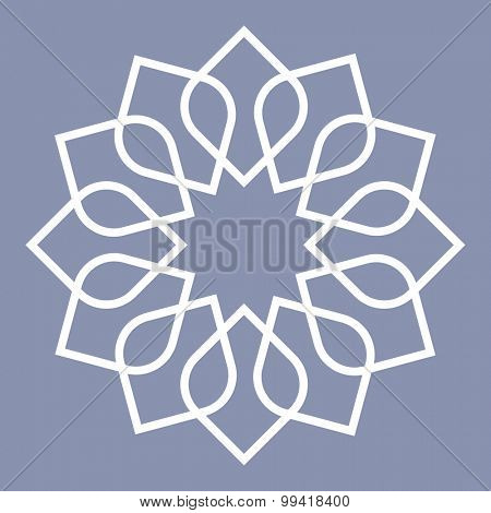 detailed illustration of an arabic pattern, eps10 vector
