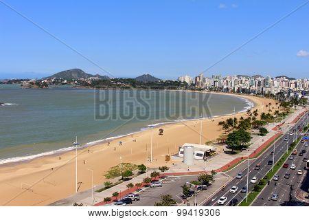 Camburi beach open view