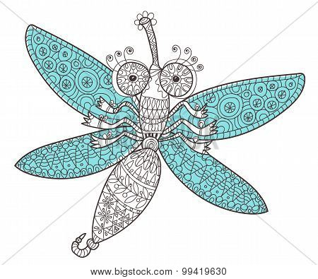 Dragon fly doodle.