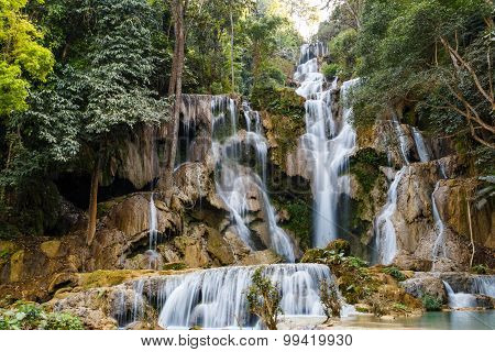Tat Kuang Si Waterfalls In Laos