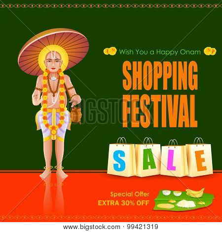 King Mahabali in Onam shopping festival