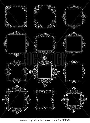 Decorative wedding frames (black and white)