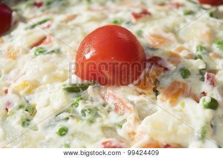 Detail Of Homemade Olivier Salad