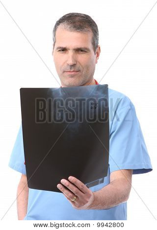 Doctor Looking At A Xray