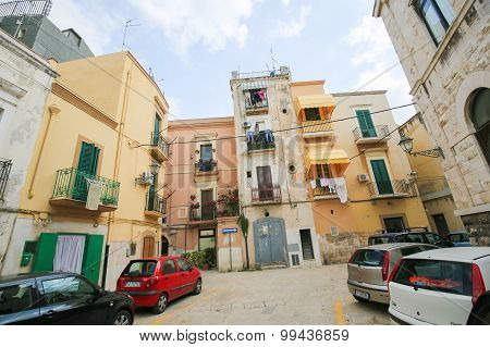 Historic Houses In The Center Of Bari, Italy