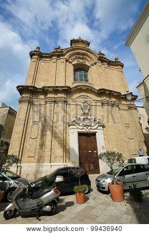 Baroque Church In The Center Of Bari, Italy