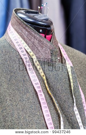 Woolen Tweed Jacket On Dummy And Ready Suits
