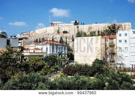View of Parthenon on Acropolis Hill, Athens, Greece