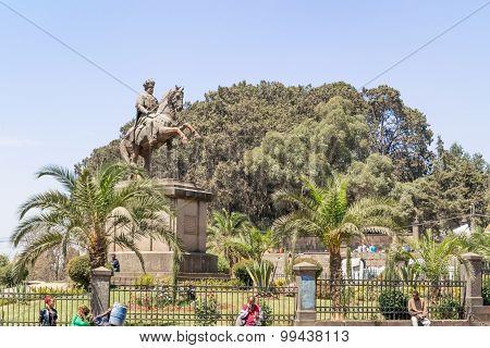 Equestrian Statue Of Emperor Menelik Ii Addis Ababa, Ethiopia