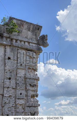 Carvings Of Rain God Chac At Uxmal
