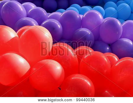 Close-up of red ballons