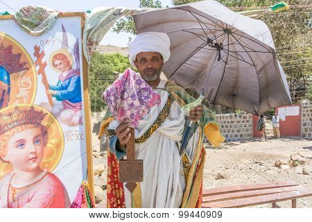 Christian Priest In Ethiopia
