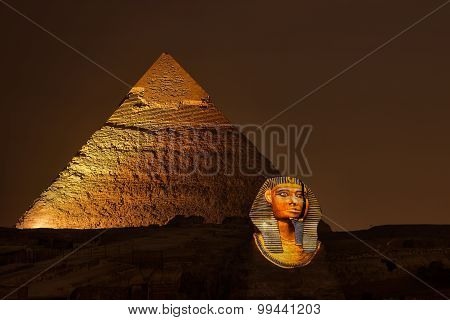 Giza pyramid and Sphinx, Magical Sound and Light Show