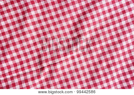 Checkered picnic Tablecloth Background.
