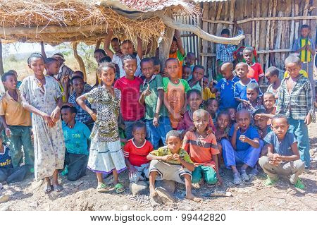 Group Of Children In Ethiopia