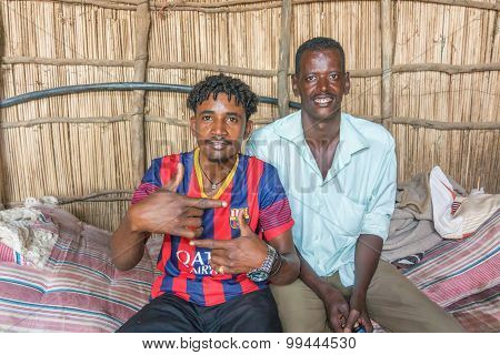 Portrait Photograph Of The Two Sudanese Man.