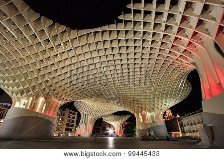 Metropol Parasol in Plaza de la Encarnacion, Sevill, Spain