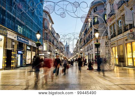 Calle Larios shopping street, Malaga, Spain