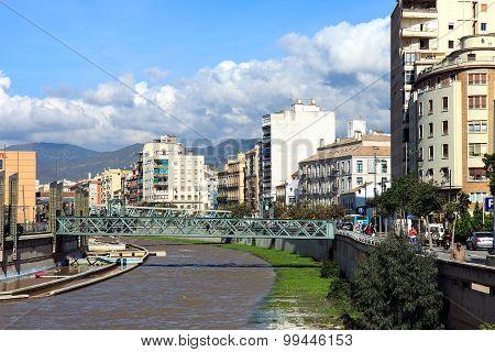 Guadalmedina River, Malaga, Spain