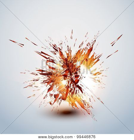 explode grunge background easy editable