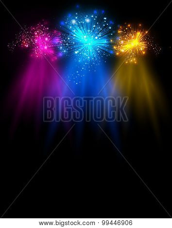 light stage with light and Sparkling you can easy editable